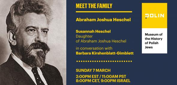 A table of information about the meeting, with the Abraham Heschel's photograph