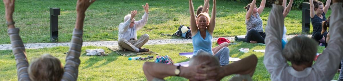 joga, zajęcia dla seniorów, Łąka Leśmiana