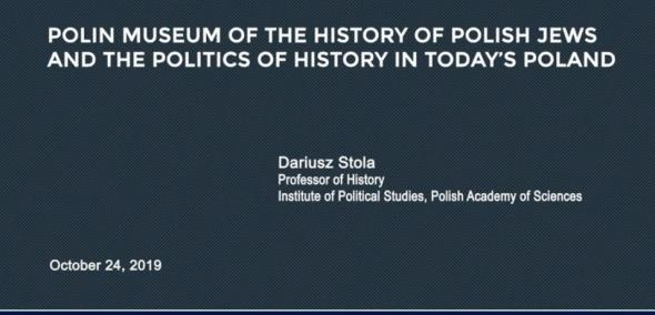 POLIN Museum of the History of Polish Jews and the Politics of History in Today's Poland