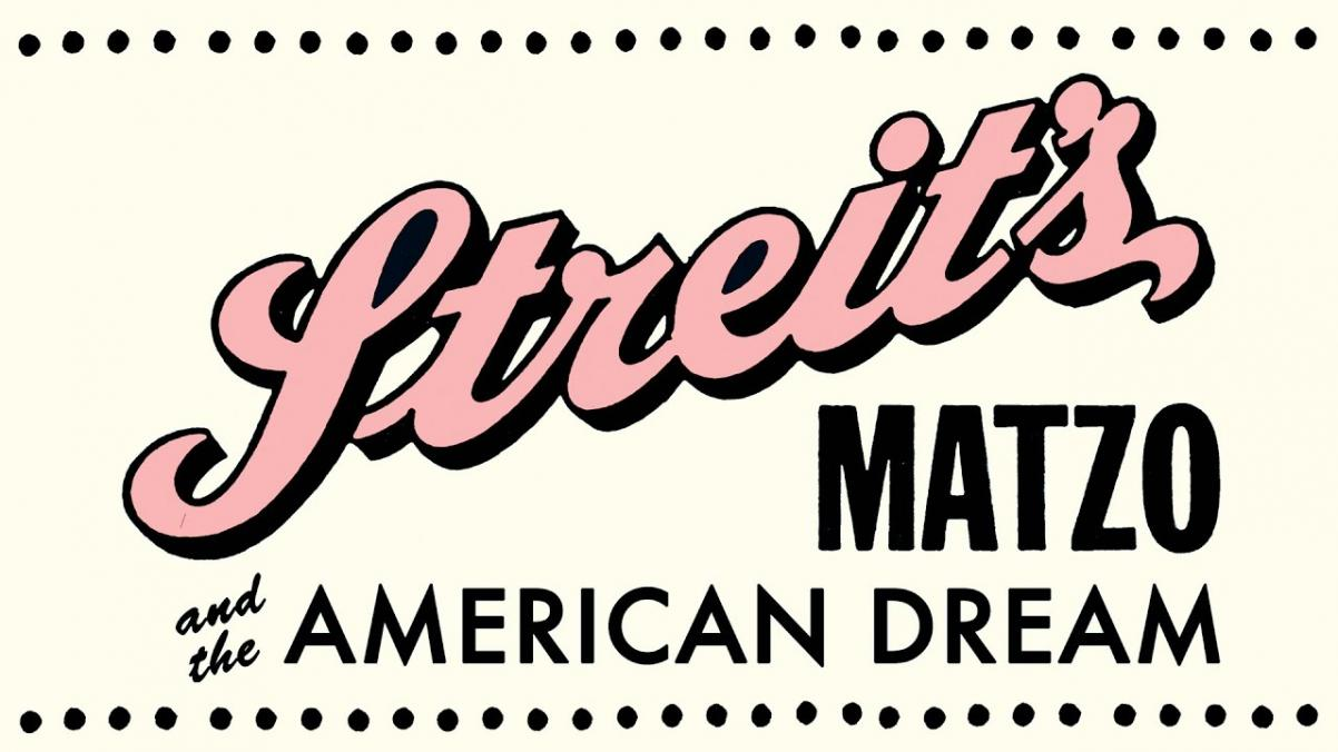 kadr z filmu, napis: Streit's: Matzo and the American Dream